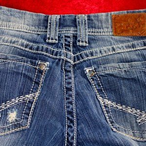 BKE Boot Cut Slight Distressing Jeans, Size 28
